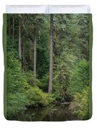 Reflections In Silver Falls State Park Duvet Cover
