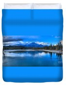 Reflections In The Athabasca Duvet Cover