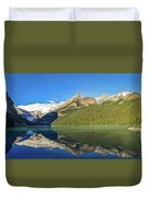 Reflections In The Water At Lake Louise, Canada Duvet Cover