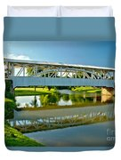 Reflections In Yellow Creek Duvet Cover