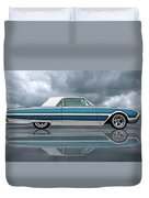 Reflections Of A 1961 Thunderbird Duvet Cover