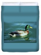 Reflections From A Mallard In Omaha Duvet Cover