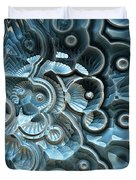 Reflections Of A Fractal Fossil Duvet Cover