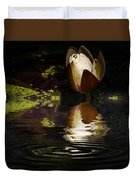 Reflections Of A Lily Duvet Cover