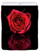 Reflections Of A Red Rose Duvet Cover