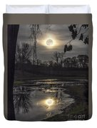 Reflections Of A Super Moon Duvet Cover