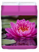 Reflections Of A Waterlily Duvet Cover