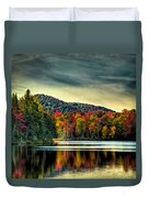 Reflections Of Autumn On West Lake Duvet Cover