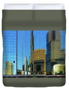 Reflections Of Chicago Duvet Cover