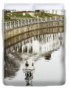Reflections Of Church Duvet Cover