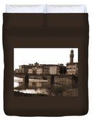 Reflections Of Florence Duvet Cover