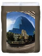 Reflections Of Fort Worth Duvet Cover