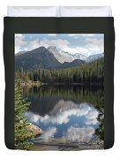 Reflections Of Majestic Mountains Duvet Cover