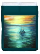 Reflections Of Peace Duvet Cover