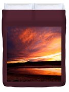 Reflections Of Red Sky Duvet Cover