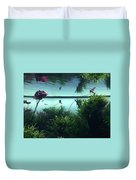 Reflections Of Waterlii Duvet Cover