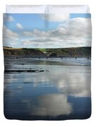 Reflections Of Widemouth Bay Duvet Cover