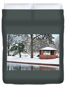 Reflections Of Winter Duvet Cover by Betty LaRue