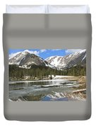Reflections On Chinns Lake 5 Duvet Cover