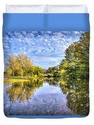 Reflections On Cibolo Creek Duvet Cover