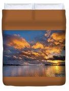 Reflections On Fire Sunset Duvet Cover