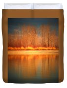 Reflections On Fire Duvet Cover