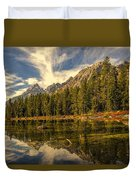 Reflections On Jenny Lake Duvet Cover