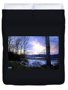 Reflections On Lake Okanagan Duvet Cover