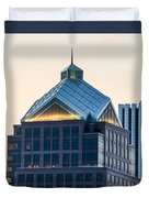 Reflections On Legacy Tower Duvet Cover
