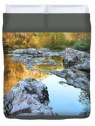 Reflections On Rocky Creek 2 Duvet Cover