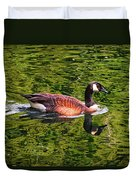 Reflections - Swimming Goose 003 Duvet Cover