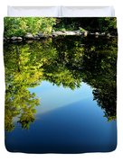 Reflections Trees Duvet Cover