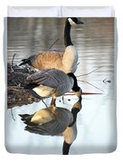 Reflective Geese Duvet Cover