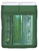 Reflective In Aqua Duvet Cover