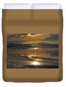Reflective Sunset Duvet Cover
