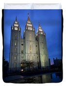 Reflective Temple Duvet Cover