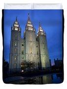 Reflective Temple Duvet Cover