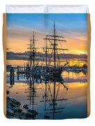 Reflectons On Sailing Ships Duvet Cover