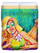 Moment In Paradise, Vacation Painting Duvet Cover