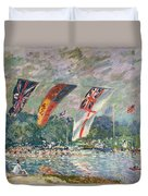 Regatta At Molesey Duvet Cover by Alfred Sisley