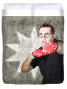Regular Guy Exercising. Bootcamp Fitness Workout Duvet Cover by Jorgo Photography - Wall Art Gallery