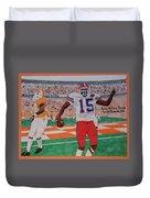 Florida - Tennessee Football Duvet Cover