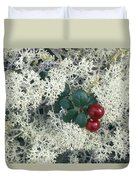 Reindeer Lichen And Low-bush Cranberry Duvet Cover