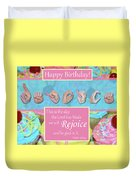 Rejoice And Be Glad Happy Birthday Duvet Cover