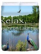 Relax Lake Time-jp2737 Duvet Cover