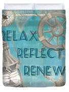Relax Reflect Renew Duvet Cover