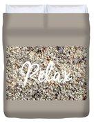 Relax Seashell Background Duvet Cover