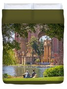 Relaxing At The Palace Duvet Cover by Kate Brown