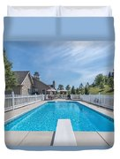 Relaxing By The Pool2 Duvet Cover