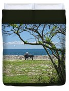 Relaxing By The Shore Duvet Cover